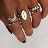 5 Pcs Bohemian Finger Rings Set