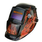 Capacete de soldagem de energia solar com escurecimento automático Máscara Botão ajustável de moagem TIG MIG