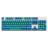 Maxkey 134 Key Sea Blue SA Profile ABS Keycaps Custom Keycap Set para 60% 65% 75% 80% 100% Diseño HHKB ISO Mecánico Teclado