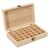 35 Grids Wooden Bottles Box  Container Organizer Storage for Essential Oil Aromatherapy