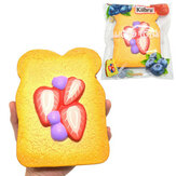 Kiibru Squishy Strawberry Sliced ​​Toast Licensed 14.5cm Lento aumento con confezione regalo regalo Soft