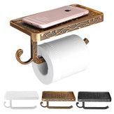 AUWandmontierteToilettenpapierrolleSeidenpapierRegalHalter Stand Telefon Regal Badezimmer Papier halten