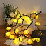 Limon Dilimleri Dize Işıklar Noel Ev Dekorasyon Çelenk Batarya Powered LED Lamba Dize Peri Işıklar Fotoğraf Düğün Dekor için