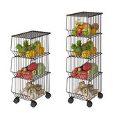 Kitchen Racks Household Pots and Pots Floor Multi-Layer Bowls and Dishes for Vegetables and Fruits Baskets Sundries Shelf