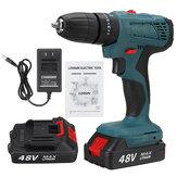 48V Аккумуляторный электрический Дрель LED Ударный Дрель 25 + 3 шестерни C 1 шт. Или 2 шт. Батарея