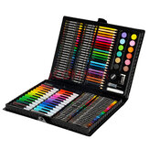 KIDDYCOLOR 163Pcs Watercolor Paint Set Art Graffiti Painting Brush Pencils Crayon Set Children's Drawing Pen