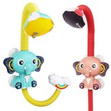 Electric Elephant Faucet Shower Water Spray Baby Bath Toy Two Water Outlet Modes for Kids Swimming Bathroom