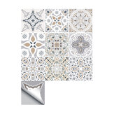10pcs Moroccan Self-adhesive Wall Sticker Waterproof Bathroom Kitchen Decor Wall Stair Floor Tile Sticker