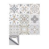 10 adet Fas Kendinden yapışkanlı Duvar Sticker Su Geçirmez Banyo Mutfak Dekor Duvar Merdiven Yer Karosu Sticker
