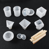 19PCS DIY Resin Casting Molds Silicone Jewelry Pendant Craft Making Mould Tool