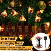 5 M / 6.5 M / 9.5 M / 12 M / 22 M LED solaire alimenté abeille chaîne lumière extérieure fête fée lampe Patio jardin cour décor