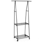 3 IN1 Metal Closet Organizer Wardrobe Shelves Kit Portable Clothes Storage Rack