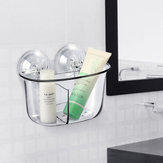 KCASA KC-FT88 Double Strong Vacuum Suction Cup  Storage Box Rack Bathroom Shelf Wall Stand Rack