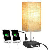 Multifutional Bedside LED Light Table Desk Lamp With Dual USB Charging Ports