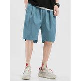 Мужские повседневные дышащие эластичные талии, удобные карманные шорты