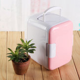 4L 48W Blue White Pink Portable Mini Car Home Refrigerator