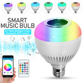 12W E27 RGBW Wireless bluetooth LED Light Bulb Remote Control Music Dimmable Lamp AC100-240V