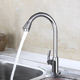 Stainless Steel Single Lever 360° Rotation Spout Kitchen Home Cold Water Faucet