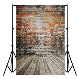 5x7FT Vinyl Retro Brick Wall Floor Background Paper Studio Photography Photo Backdrop Props