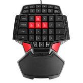 Tek El Oyun Klavye USB Kablolu Tuş Takımı 3200 dpi Mouse PS4 PC Oyunu için Xbox One Dizüstü için Tek elle Ergonomik Klavye