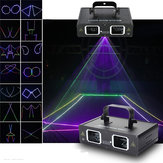 2 lentilles RGB Beam Laser Light DMX DJ Party Club Bar Show Stage Lighting AC110-240V