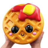 Giant Jumbo Squishy Bread Waffle Cake 24CM Cookies Slow Rising Soft Scented Toy