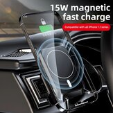 Bakeey Car 15W Magnetic Wireless Charger Car Phone Holder for iPhone 12/ 12 Mini/ 12 Pro/ 12 Pro Max