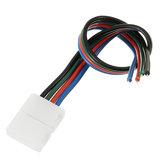 Conector sem solda de 4 pinos e 8 mm de extensão Cabo de extensão Fio para RGB 2835 3528 LED Strip