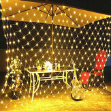 1.5x1.5M/2x3M/4x6M LED Net Mesh Fairy String Light Outdoor Garden Curtain Lamp Christmas Festival Decor 220-240V