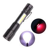XANES®1245T6+COBLED 5 Mod USB Şarj Edilebilir Teleskopik Zoom LED El Feneri