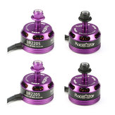 4X Racerstar Racing Edition 2205 BR2205 2300KV 2-4S Brushless Motor Purple For 210 X220 RC Drone FPV Racing