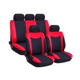 غطاء مقعد سيارة عالمي مجموعة كاملة 9 قطع حامي وسادة المقعد الأمامي والخلفي