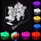 5m 20 LED hadas de la secuencia de piña de pino impermeable ligero 110v navidad decoración al aire libre