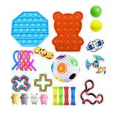 مجموعة ألعاب تململ DIY بها بنفسك ضغط النرد برباط ماجيك Cube لتخفيف التوتر وألعاب مكافحة القلق للأطفال والكبار