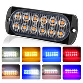 12LED Amber Car Emergency Flashing Light vehicle Strobe Flash Warning Lamp 6500K 12/24V 36W 18 Kind Flashing Model