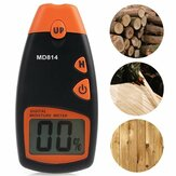 MD814 Digital Wood Moisture Portable Meter 4 Spare Sensor Pins with HD Digital LCD Display Testing Tool