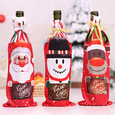 Mesa Decor Jantar Festa Natal Santa Tree Bottle Cover B