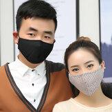 10 pcs Filtros Máscaras faciais anti-poeira Respirador de partículas PM2.5 Máscaras faciais de segurança Máscara facial anti-embaciamento anti-influenza para viagens