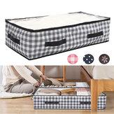 KING DO WAY 2PCS ágy tároló táska összecsukható 600D Oxford szövet nagy kapacitású vízálló varrásálló ruha tároló táska