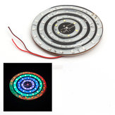 Universal 12V Motorcycle LED Light Decoration 10cm 8cm Circle Flashing Light