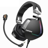 Lenovo H402 Gaming Hoofdtelefoon USB 7.1 Surround Sound Diepe Bas RGB Colorful Licht Headset met Microfoon voor PC Laptop Gamer