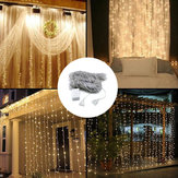 3M*3M 320 LED Waterfall Curtain String Holiday Light for Wedding Valentine's Day AC110V