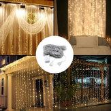 3M * 3M 320 LED Wasserfall Vorhang String Urlaub Licht für Hochzeit Valentinstag AC110V
