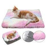 Dog Cat Long Plush Puppy Cushion Mat Soft Cama Pet Cama Quente de Inverno Para Cães Canil Portátil Cat Suprimentos