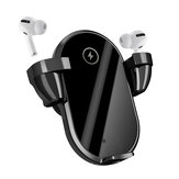 Bakeey WT01 2 in 1 TWS Headphone Wireless Car Charger Qi Charging Stand Holder Fast Charging For iPhone 12 XS 11Pro MI10 S20+ Note 20