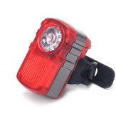 XANES自転車ライト80LMダブル/マルチカラーライトモードUSB充電式防水警戒Tailight