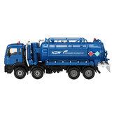 1:50スケールダイキャストモデル真空下水排水サクショントラックモデル玩具配送モデル
