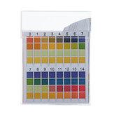 100ピース/ボックスPHテストストリップ精密4色比較0-14 PH測定飲料水品質ストリップ