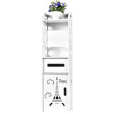 Bathroom Standing Cabinet Corner Storage Shelf Toilet Vanity Cabinet Bath Sink Organizer