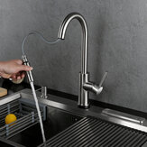 Pull Out Kitchen Faucet 304 Stainless Steel Kitchen Tap Swivel 360 Degree Splash Proof Sink Faucet Hot And Cold Mixer Tap